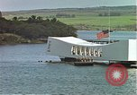 Image of USS Arizona memorial Honolulu Hawaii USA, 1962, second 15 stock footage video 65675061879