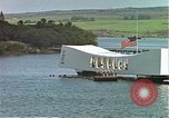 Image of USS Arizona memorial Honolulu Hawaii USA, 1962, second 19 stock footage video 65675061879