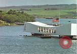 Image of USS Arizona memorial Honolulu Hawaii USA, 1962, second 30 stock footage video 65675061879