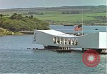 Image of USS Arizona memorial Honolulu Hawaii USA, 1962, second 31 stock footage video 65675061879