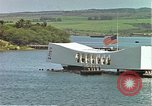 Image of USS Arizona memorial Honolulu Hawaii USA, 1962, second 32 stock footage video 65675061879