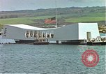 Image of USS Arizona memorial Honolulu Hawaii USA, 1962, second 53 stock footage video 65675061879