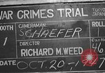 Image of war crimes trial Tokyo Japan, 1947, second 8 stock footage video 65675061886
