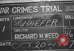 Image of war crimes trial Tokyo Japan, 1947, second 10 stock footage video 65675061886