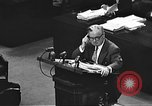 Image of war crimes trial Tokyo Japan, 1947, second 34 stock footage video 65675061888