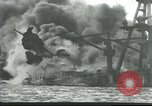 Image of wrecked battleships Pearl Harbor Hawaii USA, 1941, second 1 stock footage video 65675061904