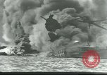 Image of wrecked battleships Pearl Harbor Hawaii USA, 1941, second 3 stock footage video 65675061904
