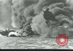 Image of wrecked battleships Pearl Harbor Hawaii USA, 1941, second 4 stock footage video 65675061904