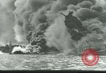 Image of wrecked battleships Pearl Harbor Hawaii USA, 1941, second 5 stock footage video 65675061904
