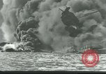 Image of wrecked battleships Pearl Harbor Hawaii USA, 1941, second 7 stock footage video 65675061904