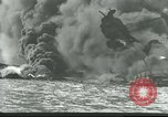 Image of wrecked battleships Pearl Harbor Hawaii USA, 1941, second 8 stock footage video 65675061904