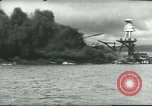 Image of wrecked battleships Pearl Harbor Hawaii USA, 1941, second 50 stock footage video 65675061904