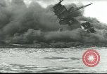 Image of wrecked battleships Pearl Harbor Hawaii USA, 1941, second 61 stock footage video 65675061904