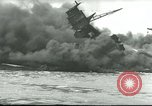 Image of wrecked battleships Pearl Harbor Hawaii USA, 1941, second 62 stock footage video 65675061904