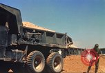 Image of construction of highway Vietnam, 1969, second 27 stock footage video 65675062014