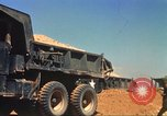 Image of construction of highway Vietnam, 1969, second 29 stock footage video 65675062014