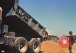 Image of construction of highway Vietnam, 1969, second 35 stock footage video 65675062014