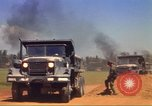 Image of construction of highway Vietnam, 1969, second 61 stock footage video 65675062014