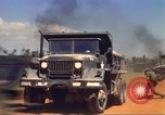 Image of construction of highway Vietnam, 1969, second 62 stock footage video 65675062014