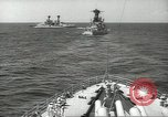 Image of United States battleships in column formation Hampton Roads Virginia USA, 1939, second 27 stock footage video 65675062203
