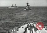 Image of United States battleships in column formation Hampton Roads Virginia USA, 1939, second 33 stock footage video 65675062203