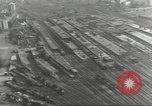Image of bomb damaged rail road station Hamm Germany, 1945, second 23 stock footage video 65675062221