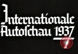 Image of International Automobile Exhibit Berlin Germany, 1937, second 15 stock footage video 65675062222