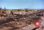 Image of F-100 Super Sabre crash New Mexico United States USA, 1957, second 2 stock footage video 65675064975