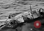 Image of Gunner buried at sea in TBF avenger aircraft Manila Philippines, 1944, second 9 stock footage video 65675070253