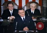 Image of President Johnson address to Congress on Voting Rights Washington DC USA, 1965, second 10 stock footage video 65675070904