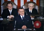 Image of President Johnson address to Congress on Voting Rights Washington DC USA, 1965, second 14 stock footage video 65675070904