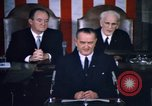 Image of President Johnson address to Congress on Voting Rights Washington DC USA, 1965, second 25 stock footage video 65675070904