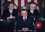 Image of President Johnson address to Congress on Voting Rights Washington DC USA, 1965, second 34 stock footage video 65675070904