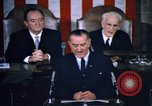 Image of President Johnson address to Congress on Voting Rights Washington DC USA, 1965, second 39 stock footage video 65675070904