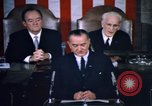 Image of President Johnson address to Congress on Voting Rights Washington DC USA, 1965, second 41 stock footage video 65675070904