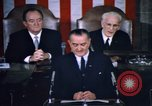Image of President Johnson address to Congress on Voting Rights Washington DC USA, 1965, second 43 stock footage video 65675070904