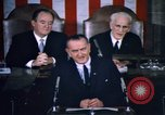 Image of President Johnson address to Congress on Voting Rights Washington DC USA, 1965, second 49 stock footage video 65675070904