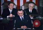 Image of President Johnson address to Congress on Voting Rights Washington DC USA, 1965, second 50 stock footage video 65675070904