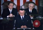 Image of President Johnson address to Congress on Voting Rights Washington DC USA, 1965, second 51 stock footage video 65675070904