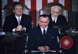 Image of President Johnson address to Congress on Voting Rights Washington DC USA, 1965, second 52 stock footage video 65675070904