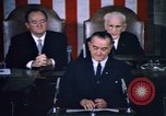 Image of President Johnson address to Congress on Voting Rights Washington DC USA, 1965, second 53 stock footage video 65675070904