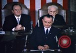 Image of President Johnson address to Congress on Voting Rights Washington DC USA, 1965, second 54 stock footage video 65675070904