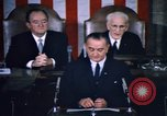 Image of President Johnson address to Congress on Voting Rights Washington DC USA, 1965, second 57 stock footage video 65675070904