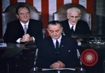 Image of President Johnson address to Congress on Voting Rights Washington DC USA, 1965, second 58 stock footage video 65675070904