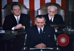 Image of President Johnson address to Congress on Voting Rights Washington DC USA, 1965, second 62 stock footage video 65675070904