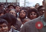 Image of faces of Martin Luther King funeral mourners Atlanta Georgia USA, 1968, second 42 stock footage video 65675070915