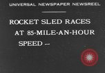 Image of rocket sled Syracuse New York USA, 1931, second 1 stock footage video 65675070926