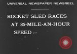 Image of rocket sled Syracuse New York USA, 1931, second 7 stock footage video 65675070926