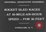 Image of rocket sled Syracuse New York USA, 1931, second 9 stock footage video 65675070926