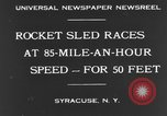 Image of rocket sled Syracuse New York USA, 1931, second 11 stock footage video 65675070926